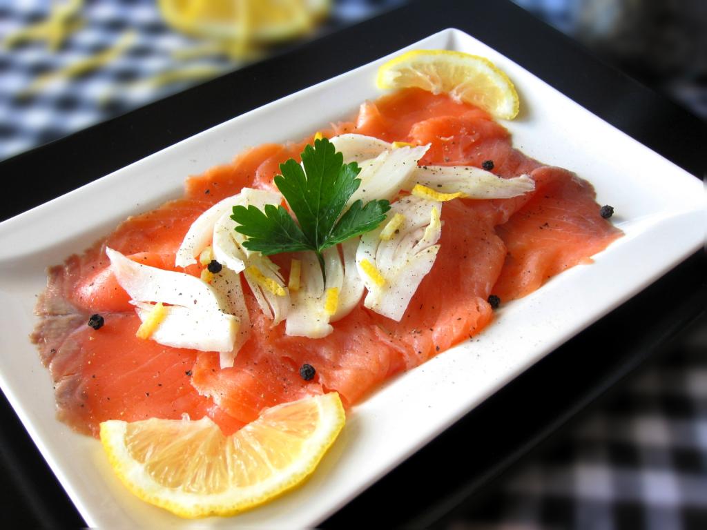 salmone e finocchi